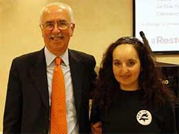 Renato Rizzoli e Maria Martinelli alla premiazione di vota il tuo atleta preferito