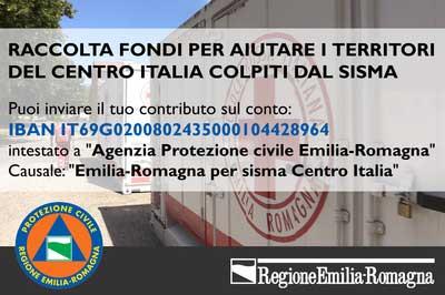 La raccolta fondi dell'Agenzia della protezione Civile dell'Emilia Romagna