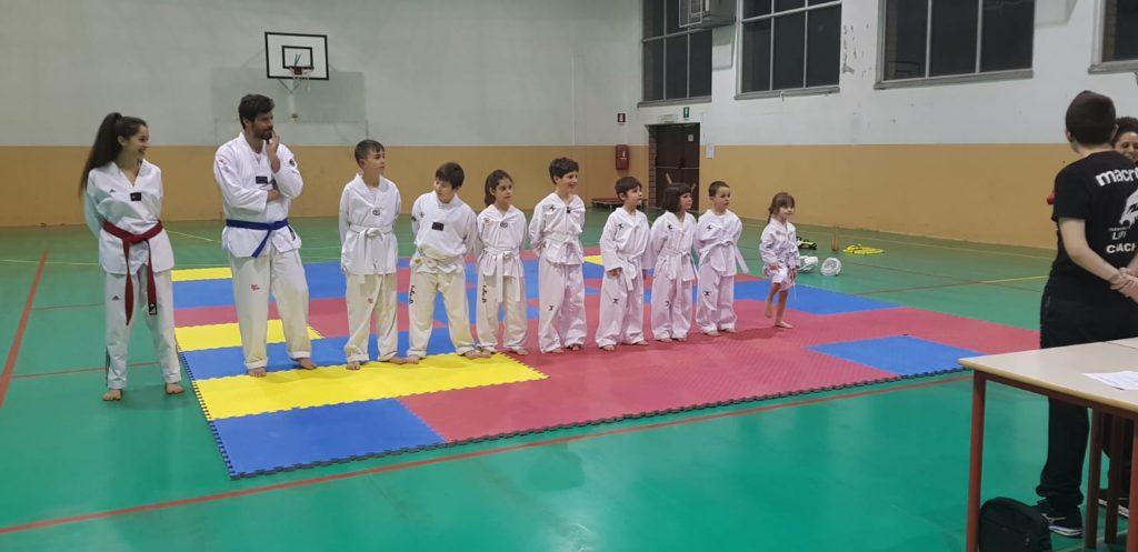 I Bambini all'esame di Taekwondo per Cinture Colorate dell'A. S. D. Taekwondo Lupi.